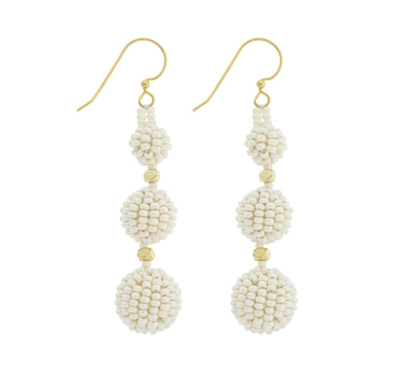 <br>The Luxe Earrings<br> Cream