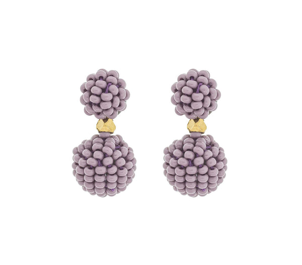 <br>The Waldorf Earring <br> Mauve