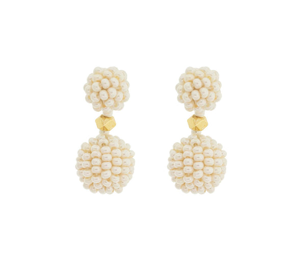 <br>The Waldorf Earring<br> Cream