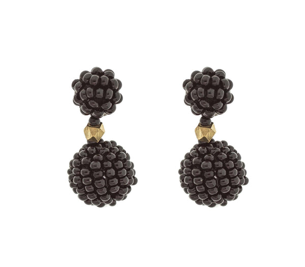 <br>The Waldorf Earring<br> Black
