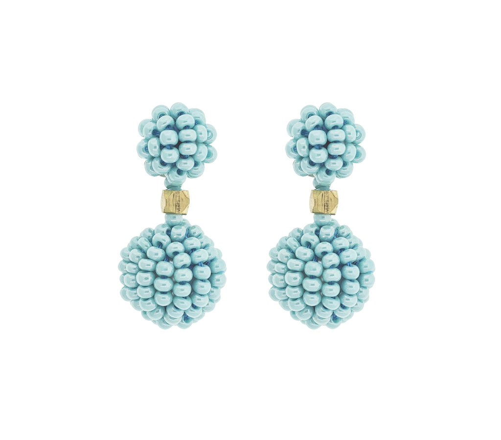 <br>The Waldorf Earring <br> Turquoise