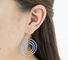 <br> Brass Gyroscope Earrings <br> Periwinkle