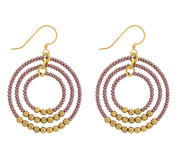 <br> Brass Gyroscope Earrings <br> Wildflower