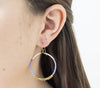 <br>Colorblocked Brass Hoops <br> Periwinkle