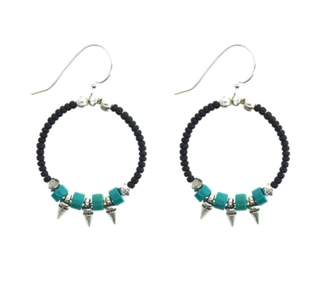 <br> Turquoise Silver Arrows <br> Black and Turquoise