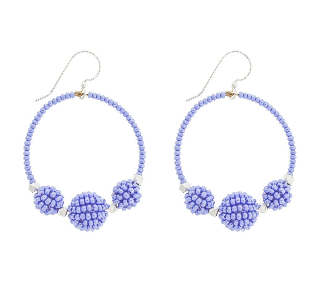 <br>The Uptown Girl Hoops <br> Periwinkle