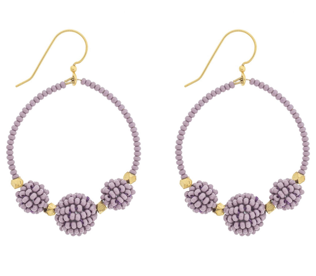 <br>The Uptown Girl Hoops <br> Mauve
