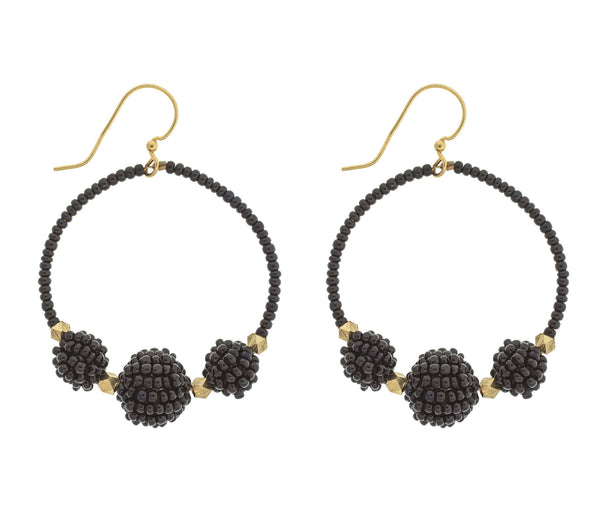 <br> The Uptown Girl Hoops <br> Black