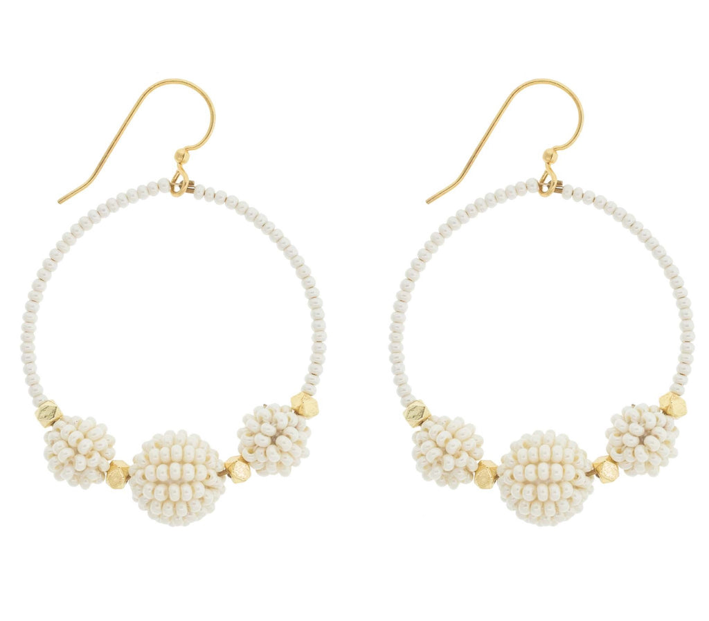 <br> The Uptown Girl Hoops <br> Cream