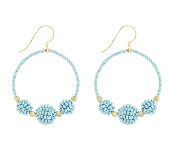 <br>The Uptown Girl Hoops <br> Turquoise