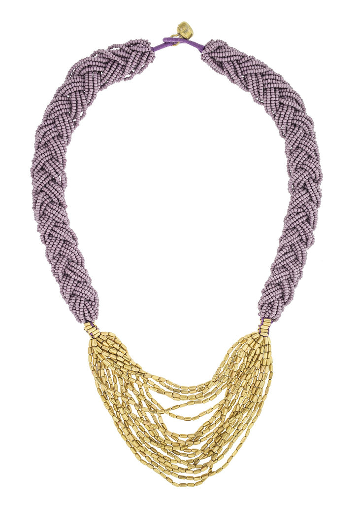<br>The Braided Hema <br> Mauve