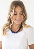 The Olivia Necklace <br> Indigo