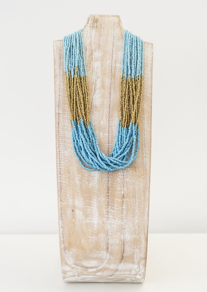 Athena Necklace <br> Turquoise and Gold