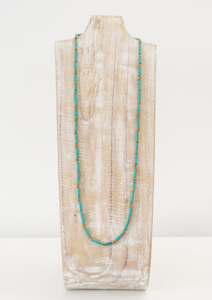 Green Sarita Necklace <br> Green Turquoise