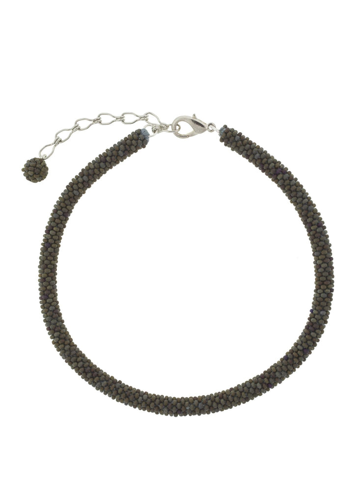 <br> Roll-On® Choker <br> Olive Green