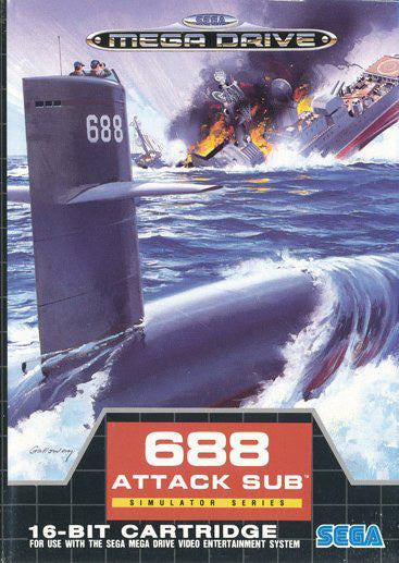 688 Attack Sub Box Art