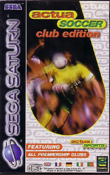 Actua Soccer: Club Edition Box Art