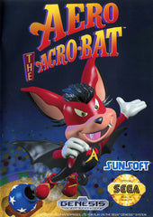 Aero the Acro-Bat Box Art