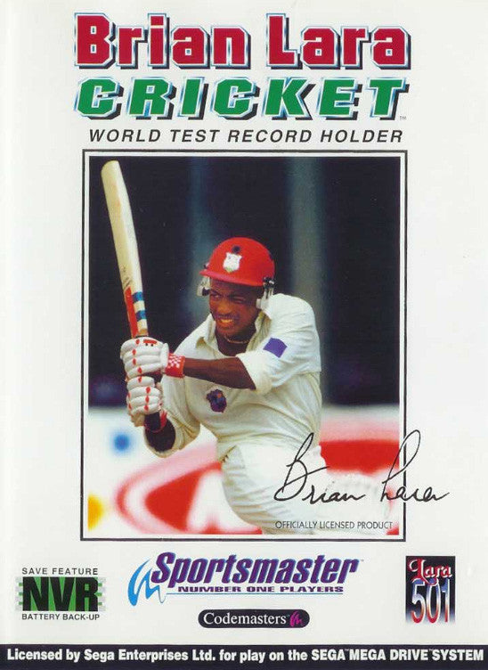 Brian Lara Cricket Box Art