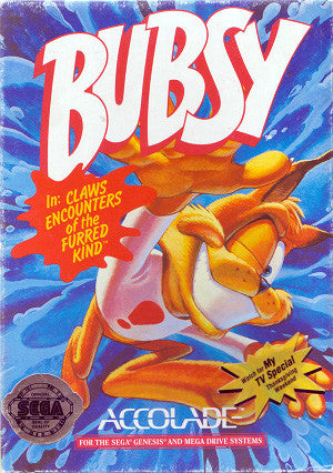 Bubsy in: Claws Encounters of the Furred Kind Box Art