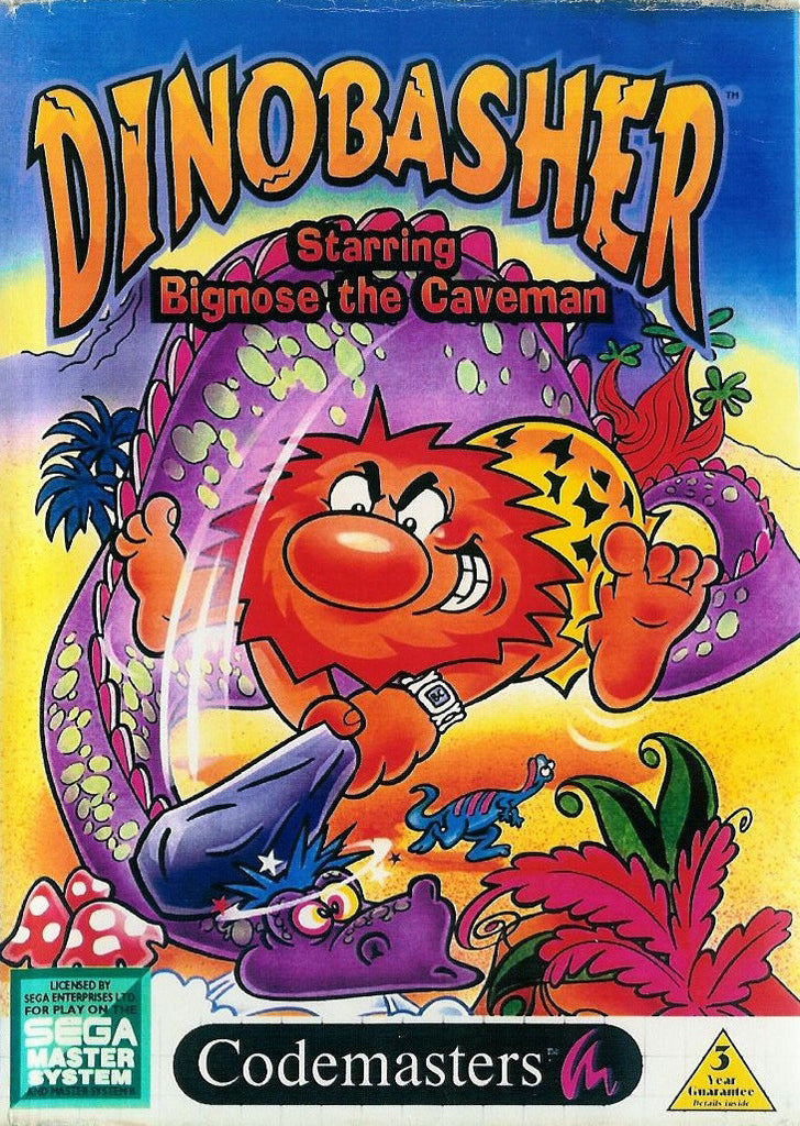 Dinobasher Starring Bignose the Caveman Box Art