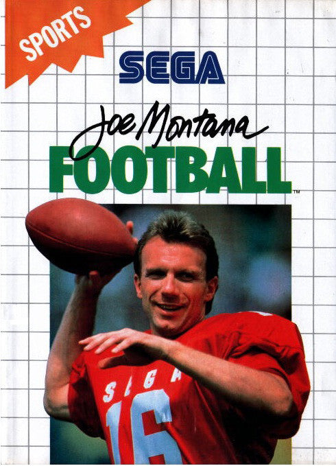 Joe Montana Football Box Art