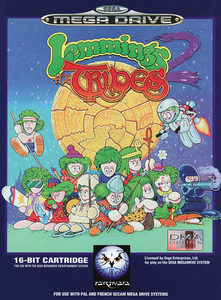 Lemmings 2: The Tribes Box Art