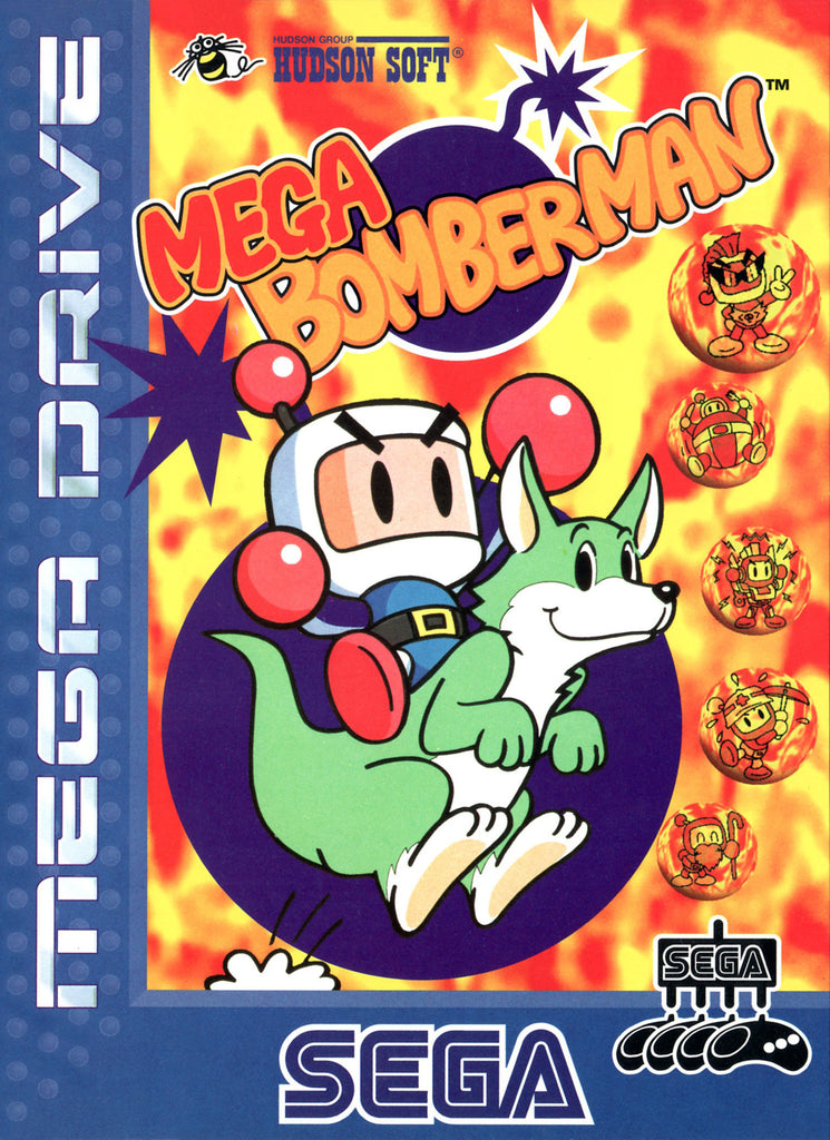 Mega Bomberman Box Art