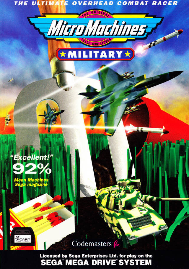 Micro Machines Military - It's A Blast! Box Art