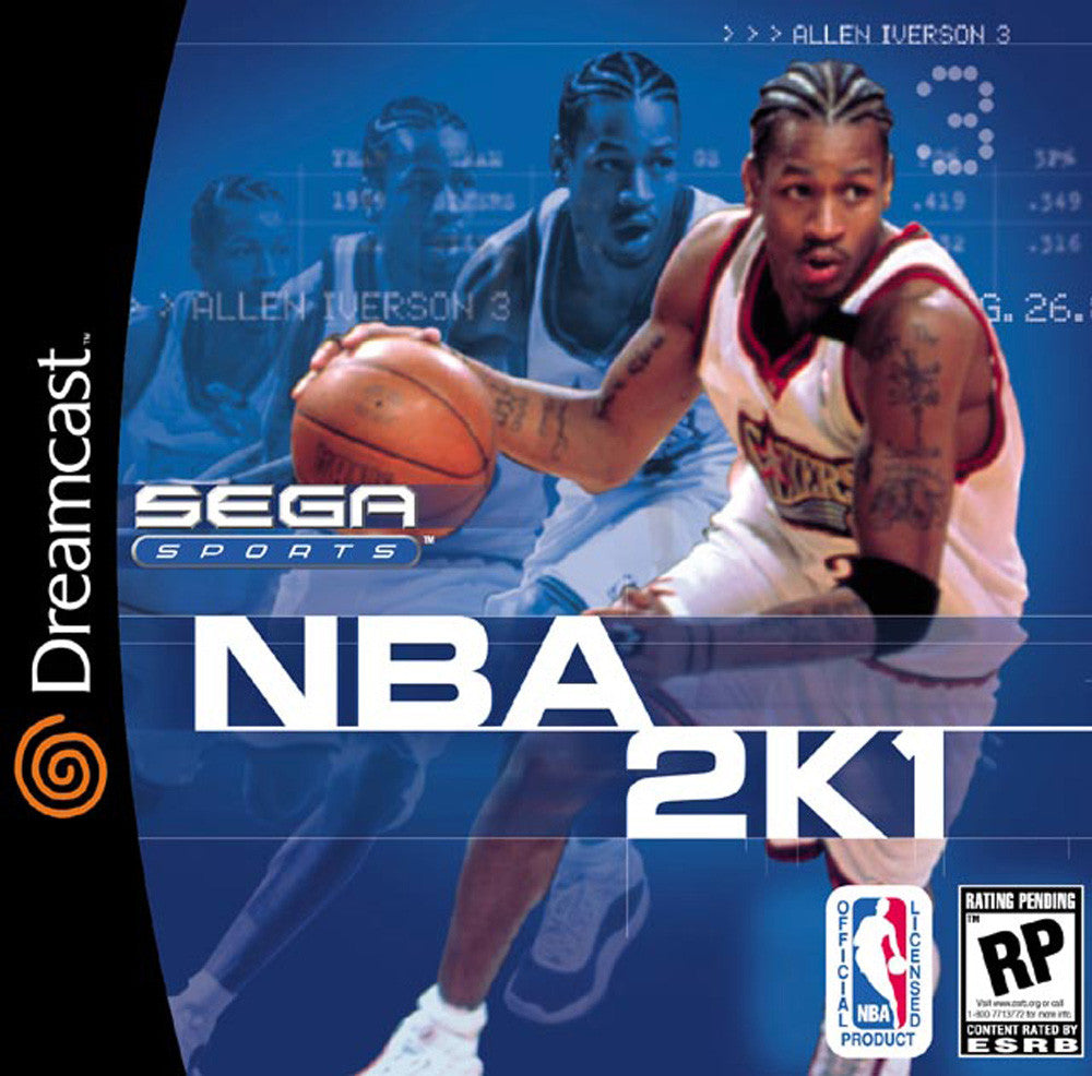 NBA 2K1 Box Art