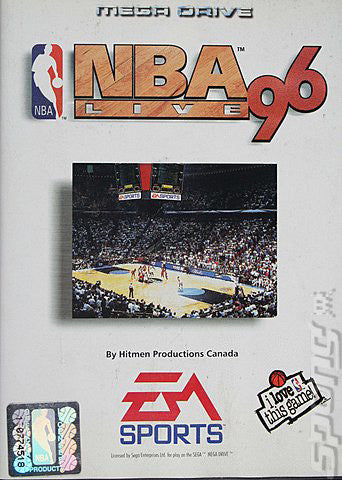NBA Live 96 Box Art