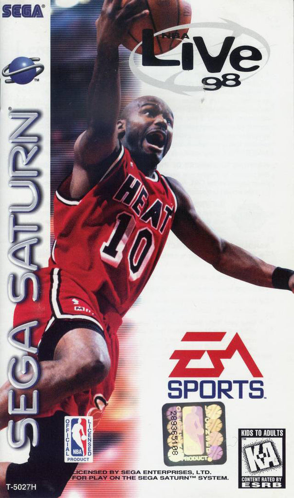 NBA Live 98 Box Art
