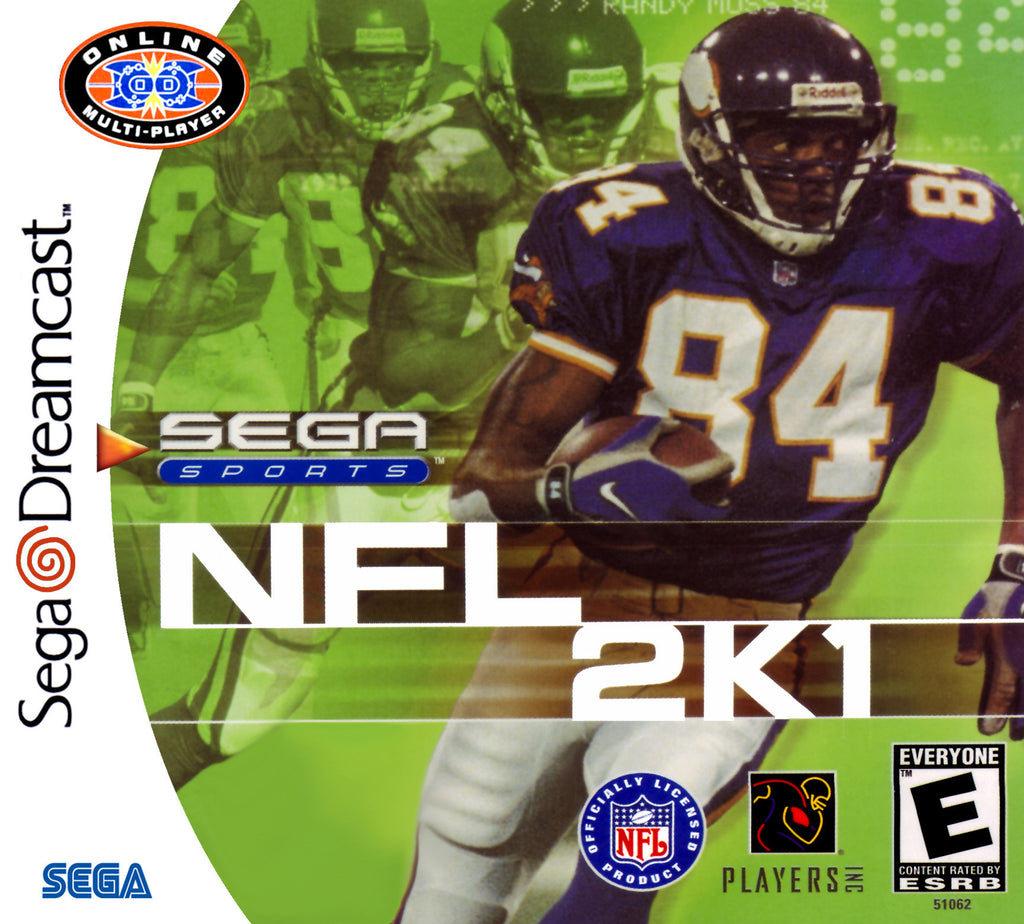 NFL 2K1 Box Art