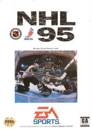 NHL 95' hockey Box Art