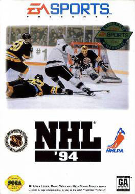 NHL Hockey '94 Box Art
