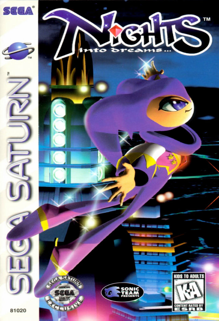 NiGHTS into Dreams... Box Art
