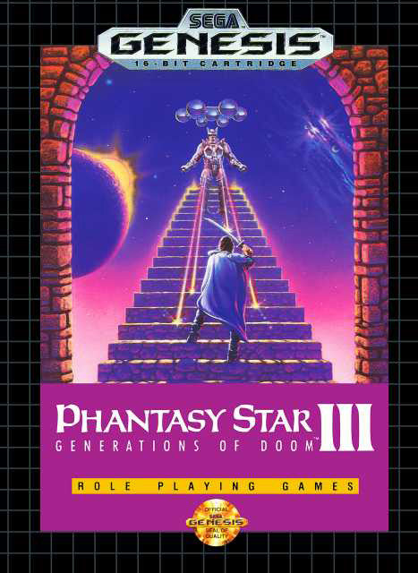 Phantasy Star III: Generations of Doom Box Art