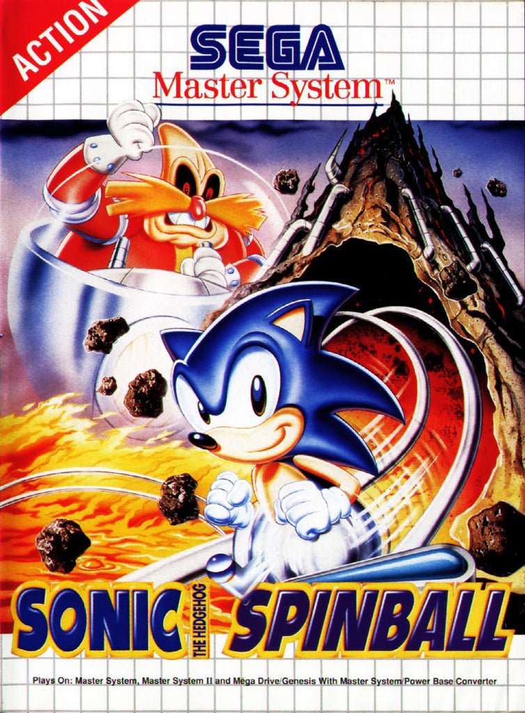 Sonic the Hedgehog Spinball Box Art