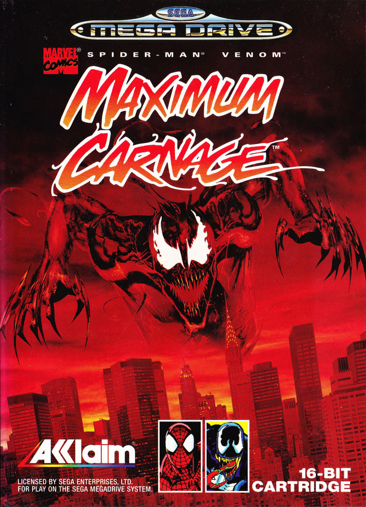 Spider-Man and Venom: Maximum Carnage Box Art