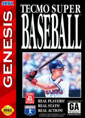 Tecmo Super Baseball Box Art