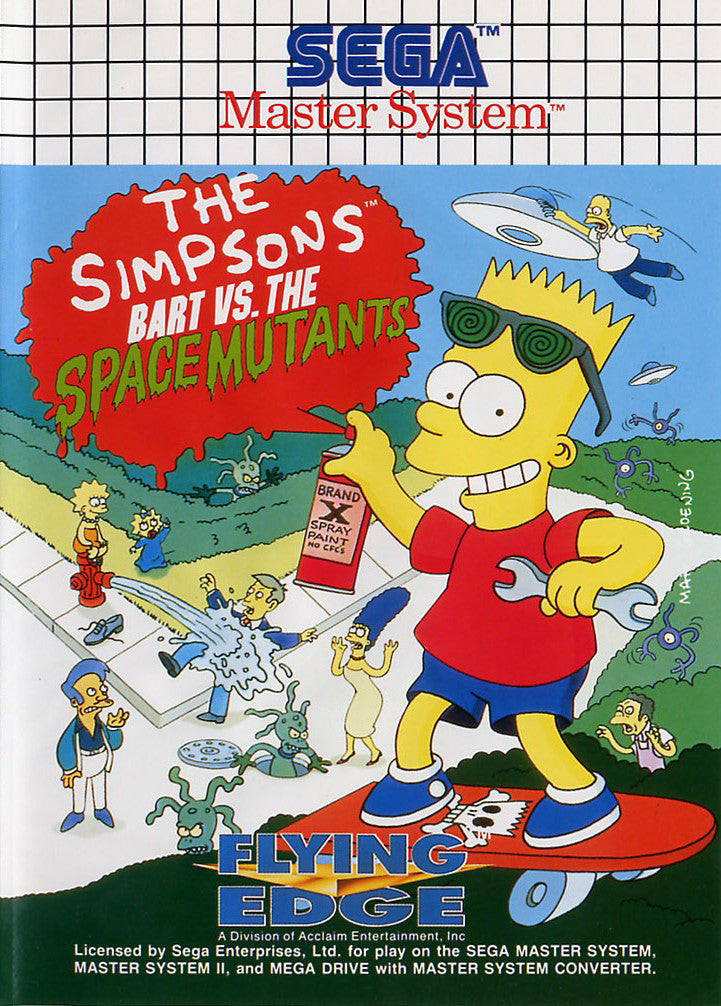 The Simpsons: Bart vs. The Space Mutants Box Art