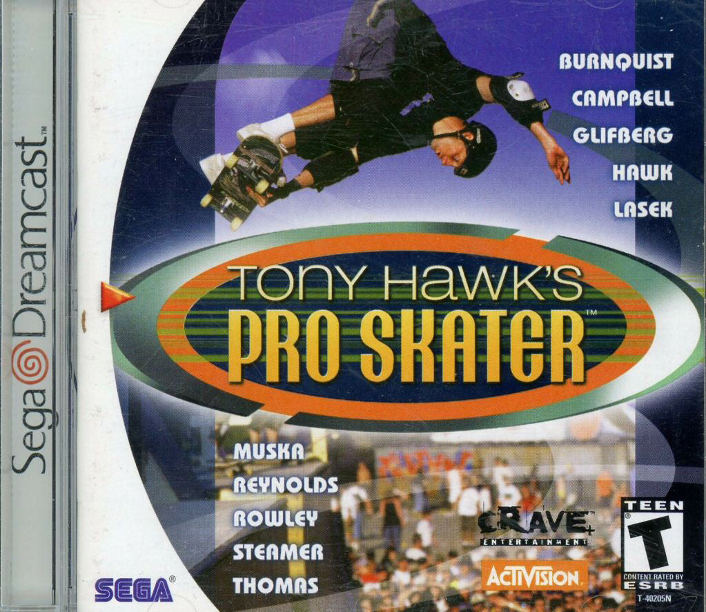 Tony Hawk's Pro Skater Box Art