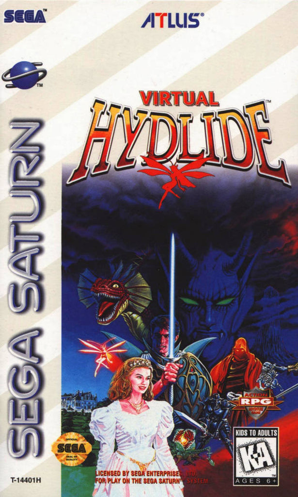 Virtual Hydlide Box Art