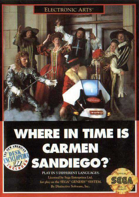 Where in Time is Carmen Sandiego? Box Art