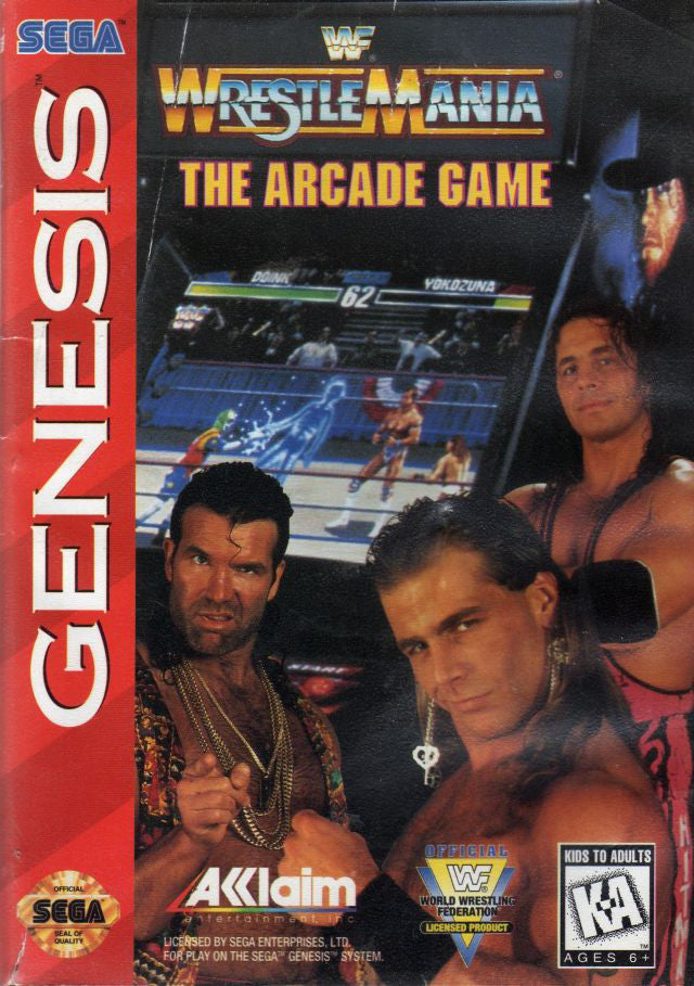 WWF Wrestlemenia The Arcade Game Box Art