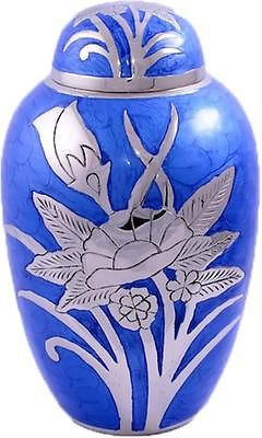Blue Flower Adult Cremation Urn
