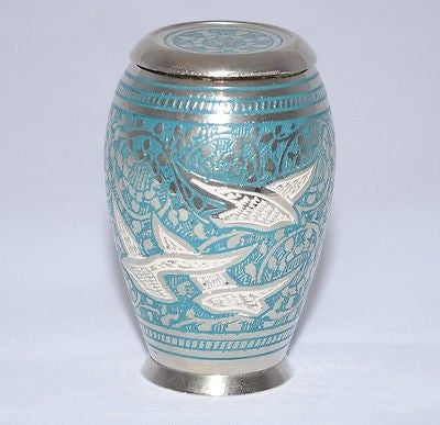 Doves in Flight (flat lid) Keepsake Cremation Urn inc velvet box