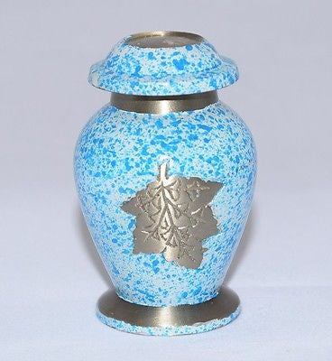 Autumnn Leaves Keepsake Cremation Urn inc velvet box