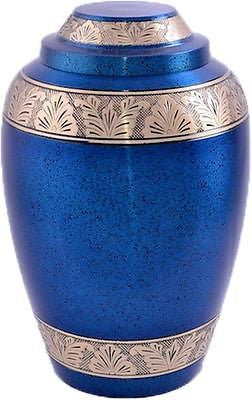 Blue Alloy Band Adult Cremation Urn