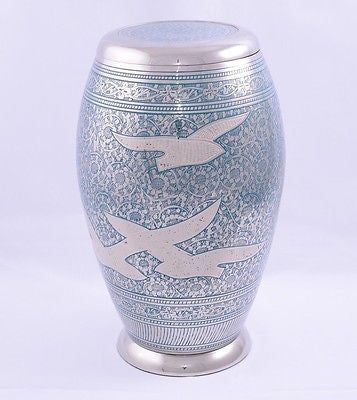 Doves in Flight (flat lid)  Adult Cremation Urn